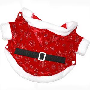 Новогоднее пальто Дед Мороз красное