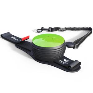 Автоматический поводок рулетка на руку зеленый