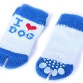 """Носочки """"Dog"""" белые с голубым"""
