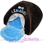 """""""LIM Dom"""" коричневый с голубым"""