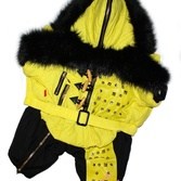 Зимний комбинезон Fur Zip желтый