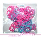 Набор резинок для собак LIMARGY розово-голубые(150шт)