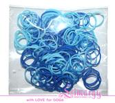 Набор резинок для собак LIMARGY сине-голубые(150шт)