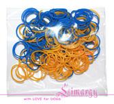 Набор резинок для собак LIMARGY сине-желтые(150шт)