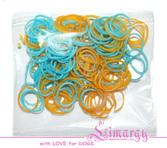Набор резинок для собак LIMARGY желто-голубые(150шт)