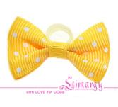 """Бантик """"Mini Po"""" желтый"""