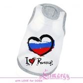 Маечка Россия белая