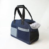 """Сумка-переноска """"Denim Bag"""" Для двух собачек синяя"""