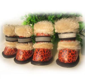 Ботинки Леопард рыжие