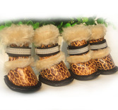 Ботинки Леопард бежевые