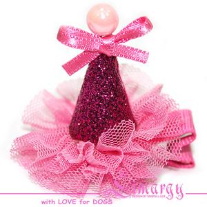 Заколка Колпак Мини розовая