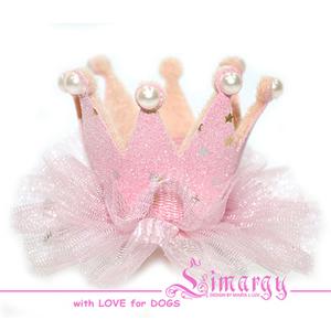 Заколка Корона нежно-розовая