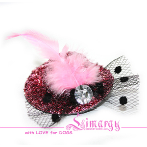 Заколка Шляпка-сеточка розовая
