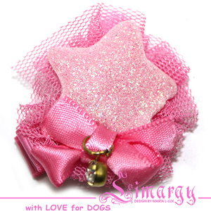 Заколка Звезда мини нежно-розовая