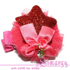 Заколка Звезда мини розовая