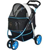 Коляска для собак Monarch Premium, черно-голубая