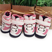 Кроссовки на шнурках розовые