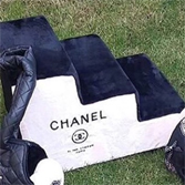 Лесенка Chanel черно-белый