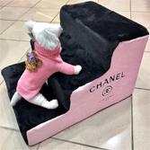 Лесенка Chanel черно-розовый