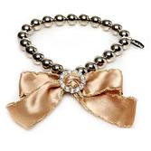 Ожерелье золотое с бантом