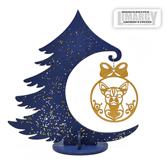Новогодняя Ёлочка с игрушкой Чихуа (золото)