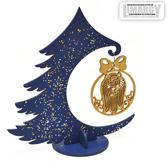 Новогодняя Ёлочка с игрушкой Йорк (золото)