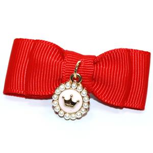 Заколка Crown красная